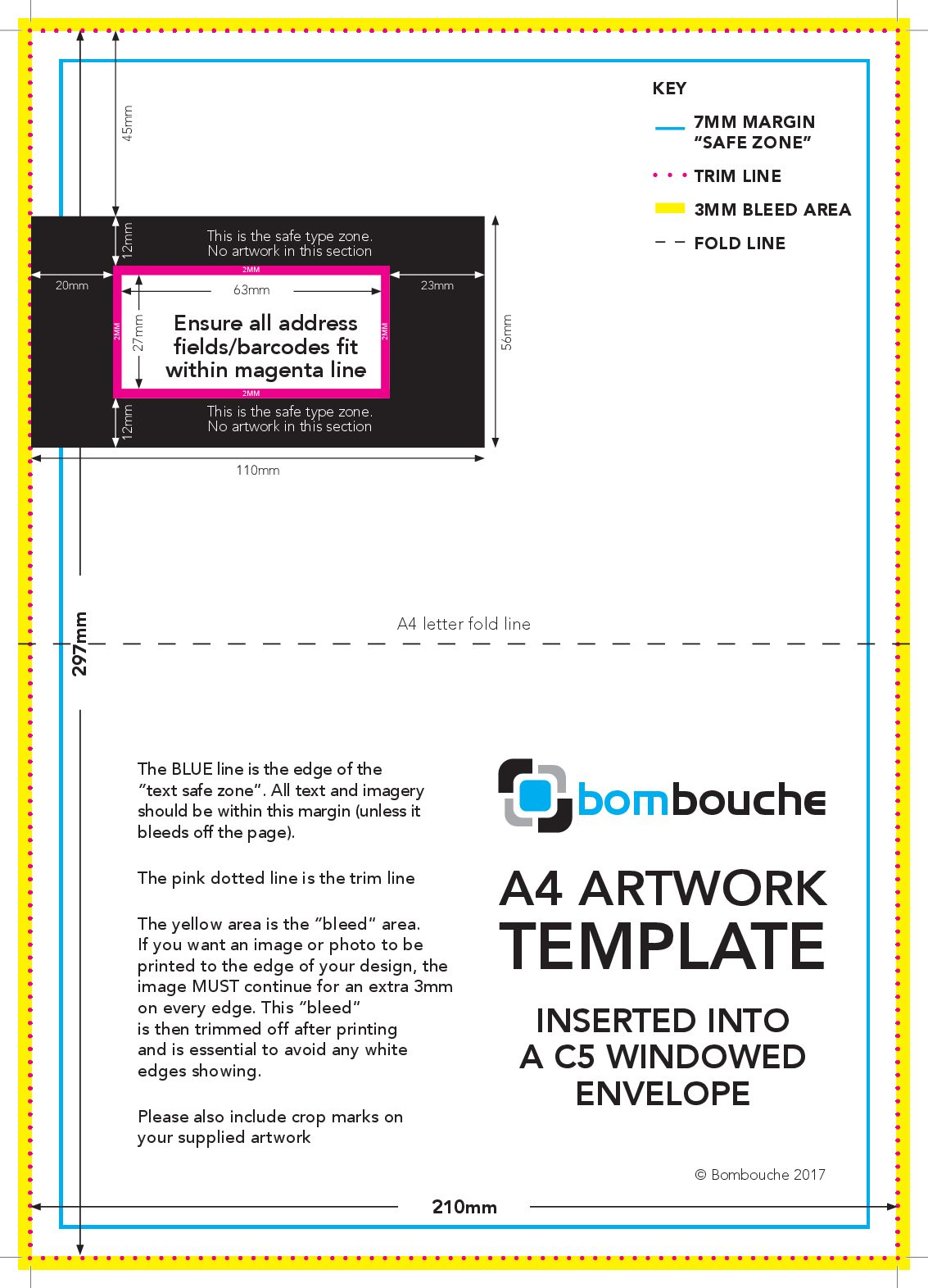 a4 artwork c5 envelope template direct printing and mailing from