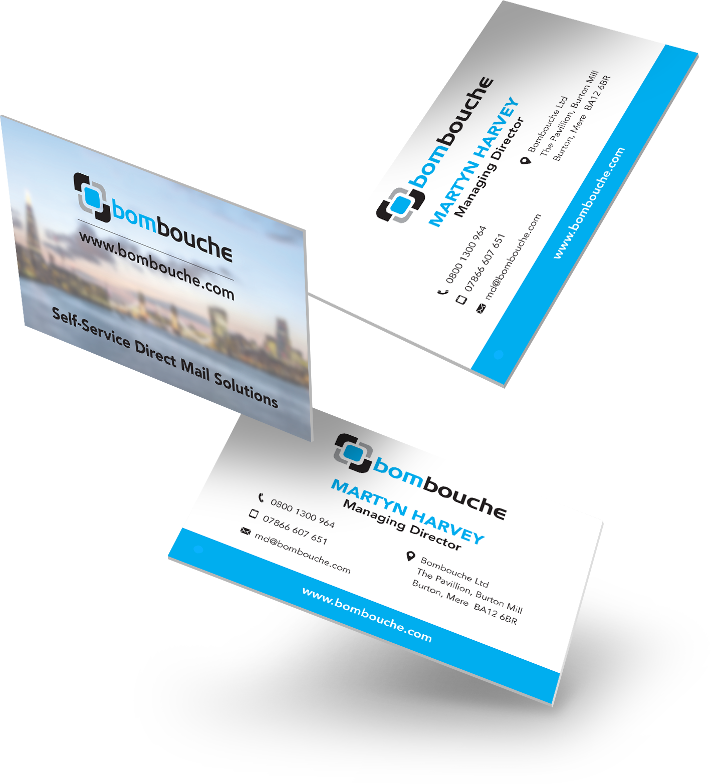 Business cards direct printing and mailing from bombouche colourmoves