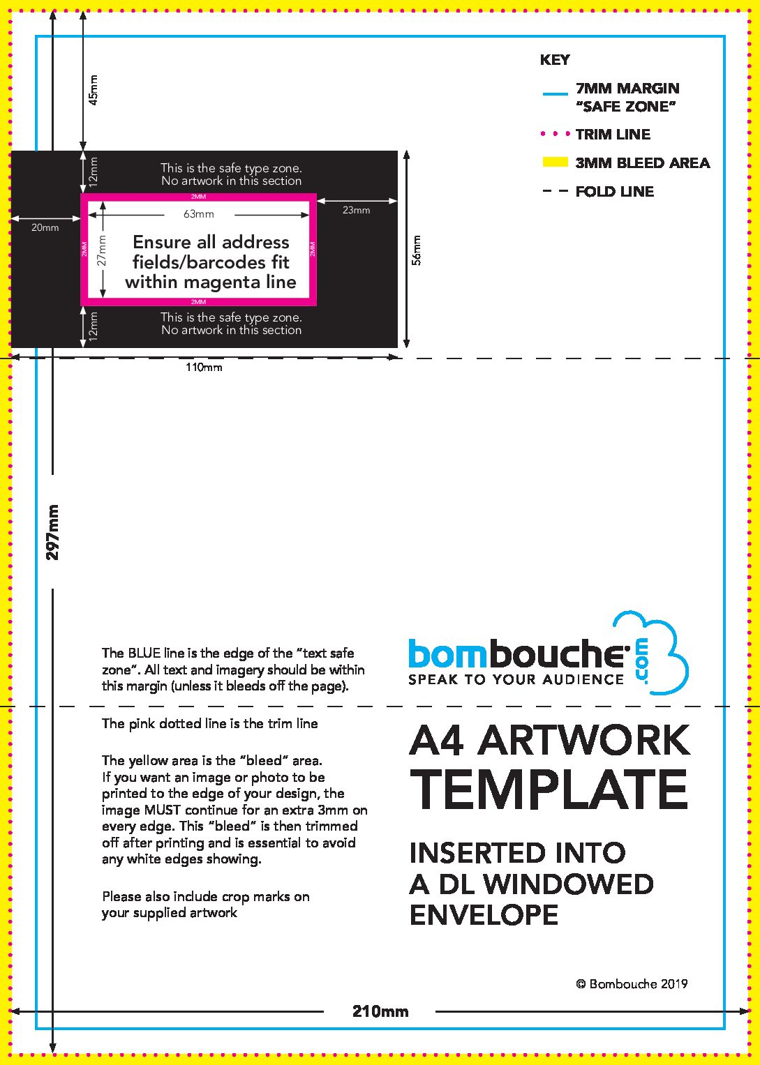 a4 artwork dl envelope template 2019 direct printing and mailing